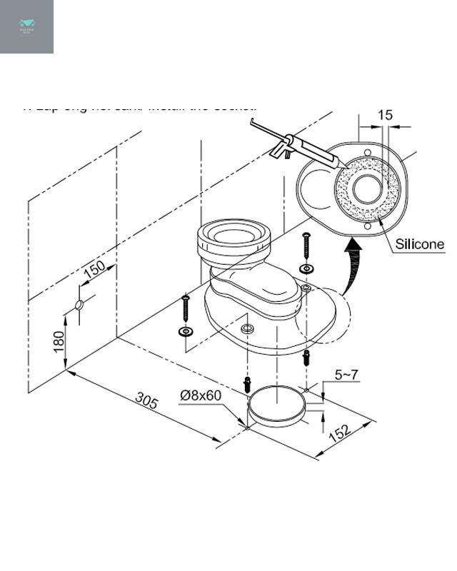 Hướng dẫn lắp đặt bồn cầu Inax AC-832VN hai khối