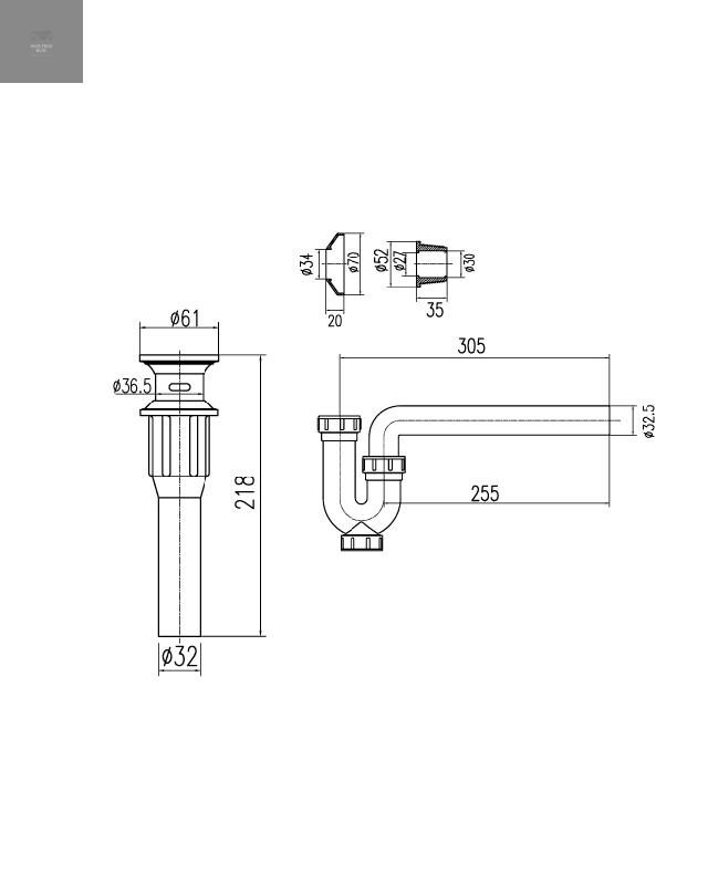 Thông số kỹ thuật bộ xả lavabo Inax A-016V